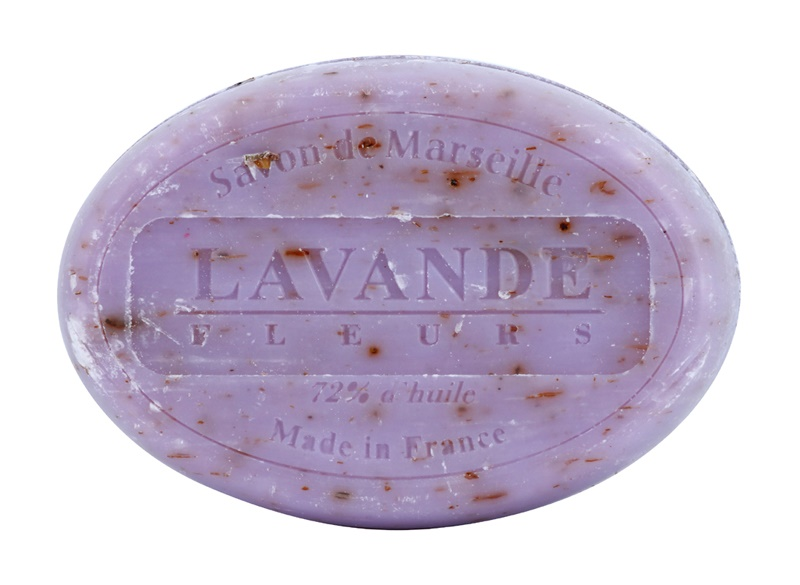 Le Chatelard 1802 Lavender Flowers Round Natural French Soap