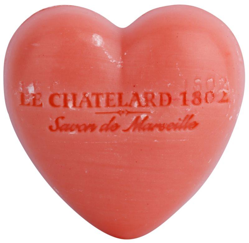 Le Chatelard 1802 Jasmine Rose mydlo v tvare srdca