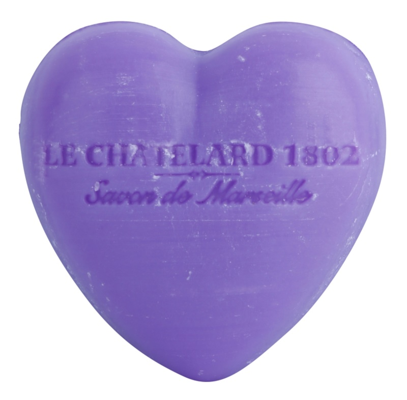 Le Chatelard 1802 Lavender mydlo v tvare srdca