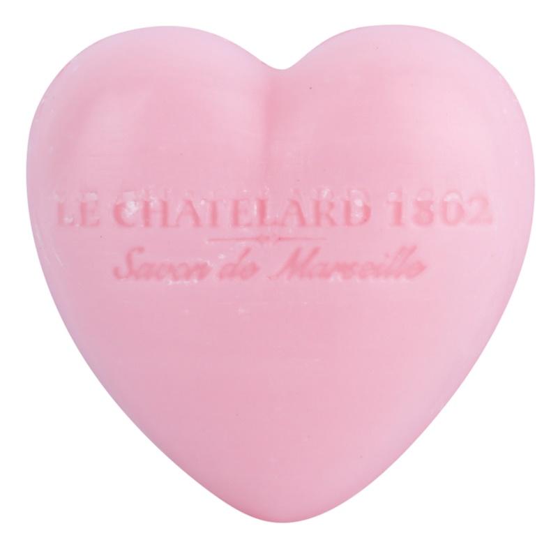 Le Chatelard 1802 Rose & Peony jabón en forma de corazón