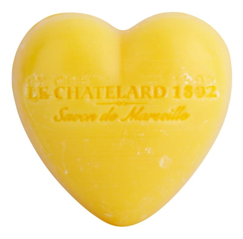 Le Chatelard 1802 Tangerine & Lime mydlo v tvare srdca