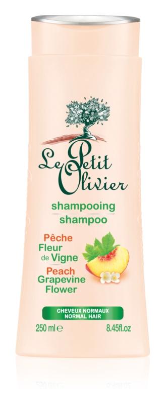 Le Petit Olivier Peach & Grapevine Flower šampon pro normální vlasy