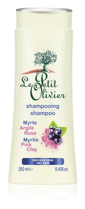 Le Petit Olivier Myrtle & Pink Clay šampón pre mastné vlasy