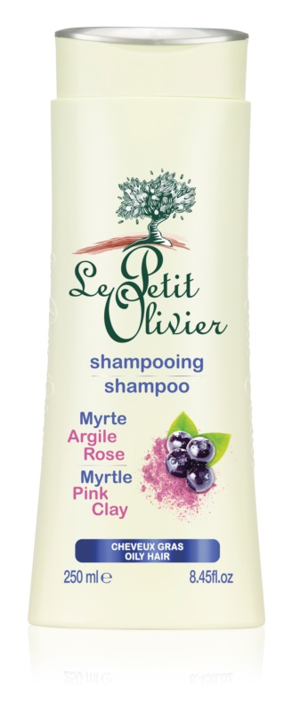 Le Petit Olivier Myrtle & Pink Clay šampon za mastne lase