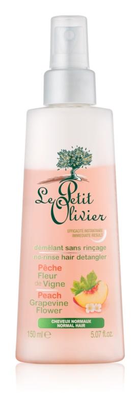 Le Petit Olivier Peach & Grapevine Flower bezoplachový kondicionér v spreji