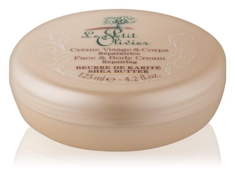 Le Petit Olivier Shea Butter ультра зволожуючий крем для обличчя та тіла