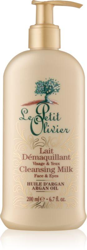 Le Petit Olivier Argan Oil čisticí a odličovací mléko na obličej a oči