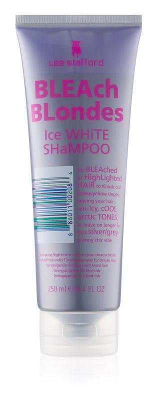 Lee Stafford Bleach Blondes Silver Shampoo for Yellow Tones Neutralization