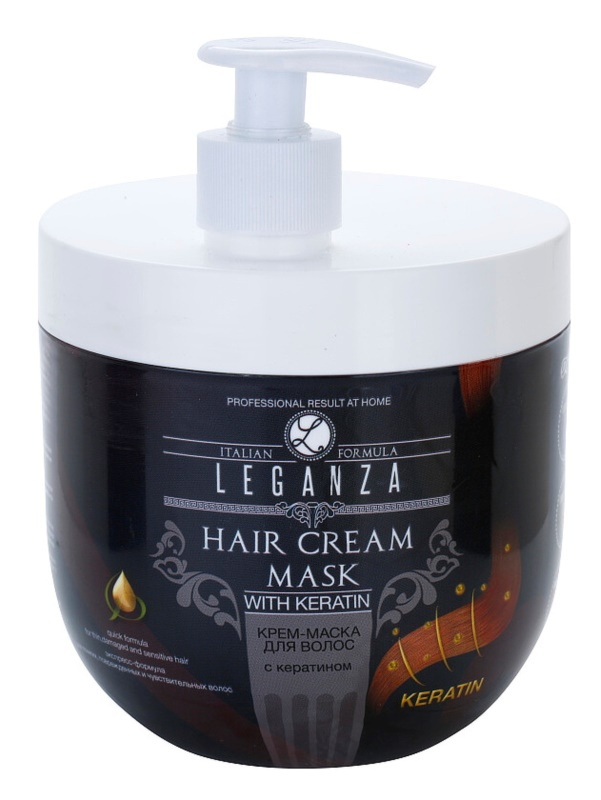 Leganza Hair Care maschera in crema con cheratina