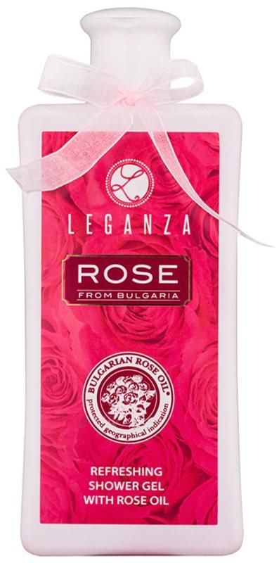 Leganza Rose osviežujúci sprchový gél