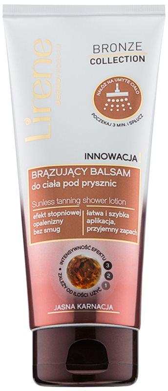 Lirene Bronze Collection bronzujúce sprchové mlieko