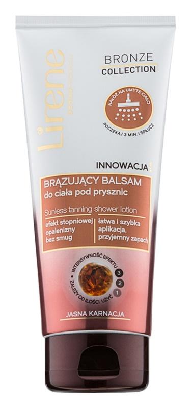Lirene Bronze Collection loțiune autobronzantă sub duș