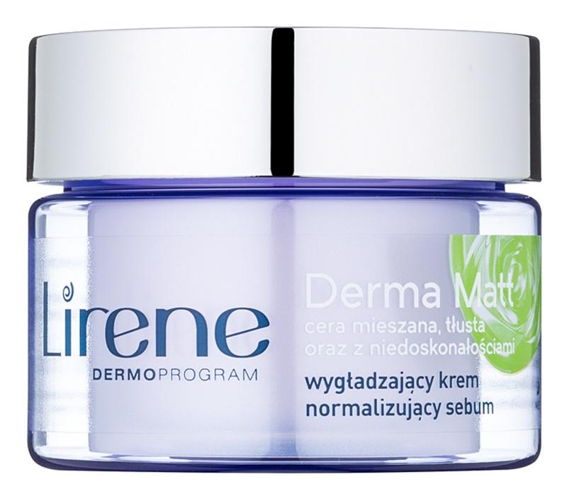 Lirene Derma Matt narmalizujúci nočný krém s vyhladzujúcim efektom