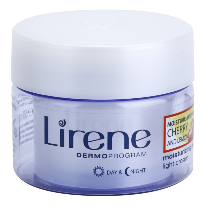 Lirene Moisture & Nourishment crema hidratante refrescante con cereza y limón