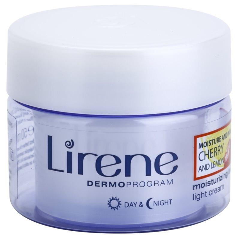 Lirene Moisture & Nourishment ľahký osviežujúci hydratačný krém s čerešňou a citrónom