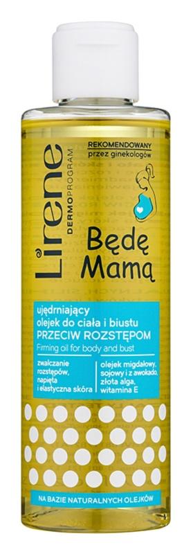 Lirene Mother to Be olje za učvrstitev telesa in prsi proti strijam