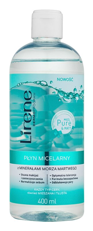 Lirene Micel Pure Matt Micellar Water With Minerals From The Dead Sea