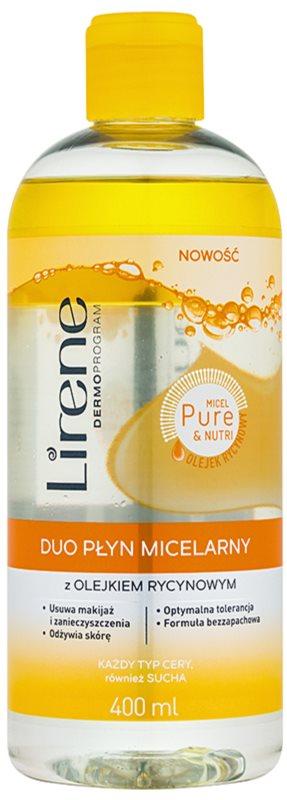 Lirene Micel Pure Nutri dvofazna micelarna voda z ricinusovim oljem