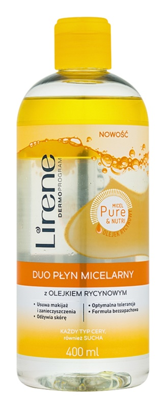 Lirene Micel Pure Nutri dvojfázová micelárna voda s ricínovým olejom