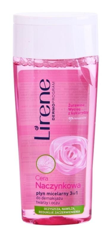 Lirene Redness água micelar de limpeza 3 em 1