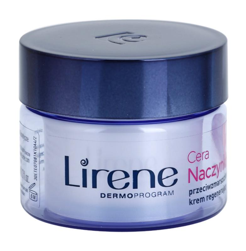 Lirene Redness crema de noche regeneradora  antiarrugas