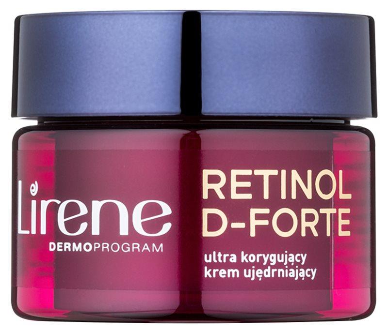 Lirene Retinol D-Forte 50+ crema de noche reafirmante  para corrección de arrugas