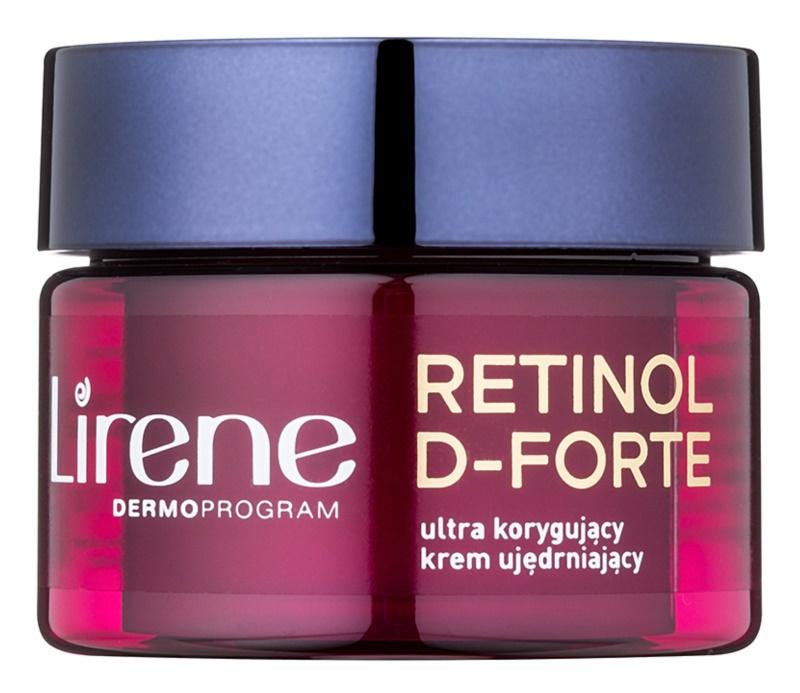 Lirene Retinol D-Forte 50+ spevňujúci nočný krém proti vráskam na korekciu vrások