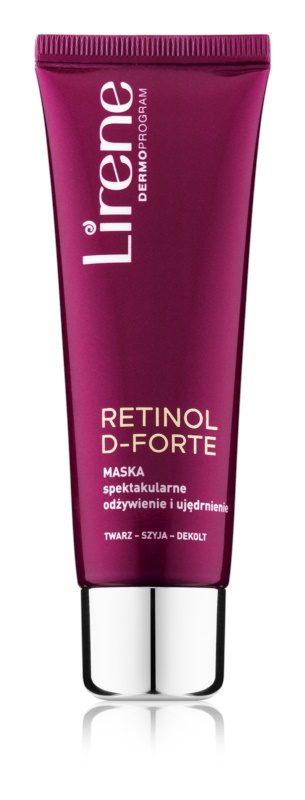 Lirene Retinol D-Forte Nourishing and Firming Mask For Face, Neck And Chest