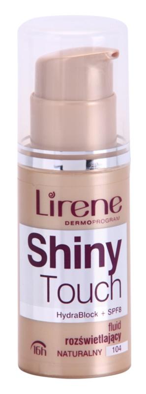 Lirene Shiny Touch posvetlitveni fluidni tekoči puder 16 ur
