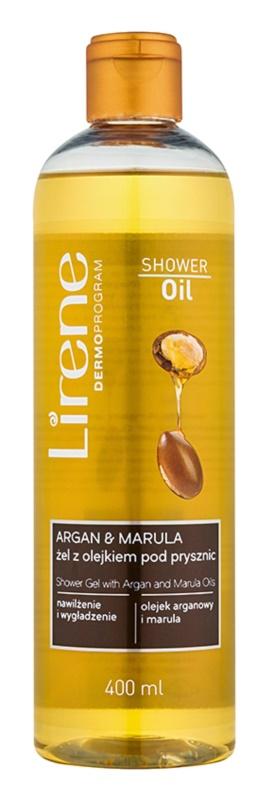 Lirene Shower Oil sprchový gél s argánovým a marulovým olejom