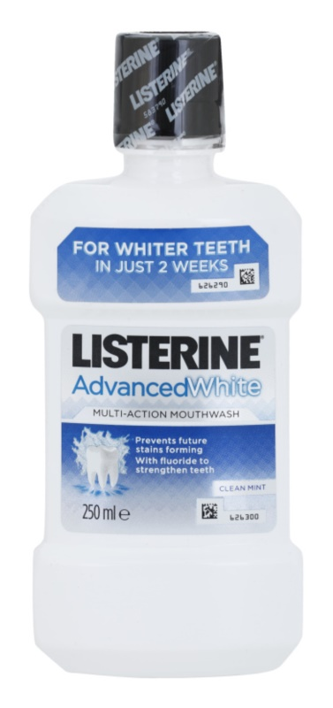 Listerine Advanced White elixir bocal com efeito branqueador