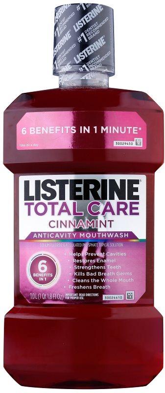 Listerine Total Care Cinnamint Mundwasser für den vollständigen Schutz der Zähne 6 in 1