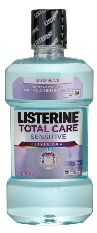 Listerine Total Care Sensitive bain de bouche pour une protection complète des dents sensibles