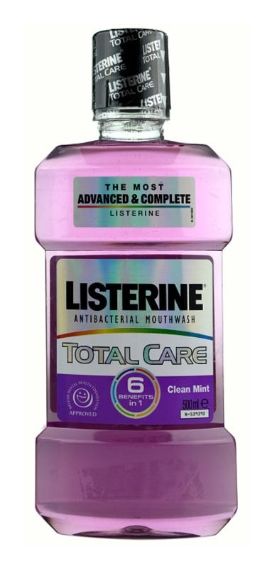 Listerine Total Care Clean Mint рідина для полоскання ротової порожнини для комплексного захисту зубів 6 в 1