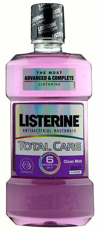 Listerine Total Care Clean Mint elixir para a proteção completa dos dentes 6 in 1