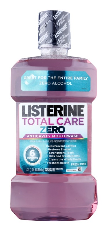Listerine Total Care Zero enjuague bucal para la protección completa anticaries y para un aliento fresco sin alcohol