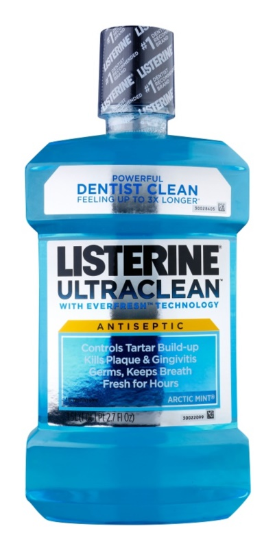 Listerine Ultra Clean Artic Mint elixir bocal para hálito fresco