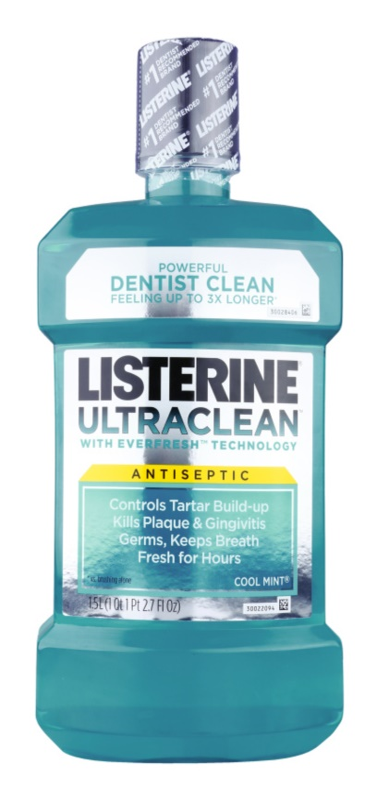 Listerine Ultra Clean Cool Mint elixir bocal para hálito fresco