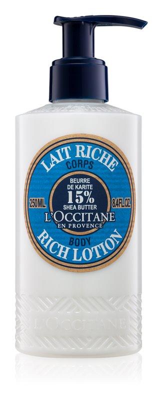 L'Occitane Karité testápoló tej