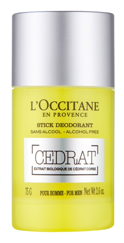 L'Occitane Cedrat deodorant roll-on para homens 75 g desodorizante roll-on sem álcool