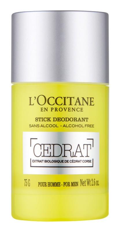 L'Occitane Cedrat déodorant roll-on pour homme 75 g