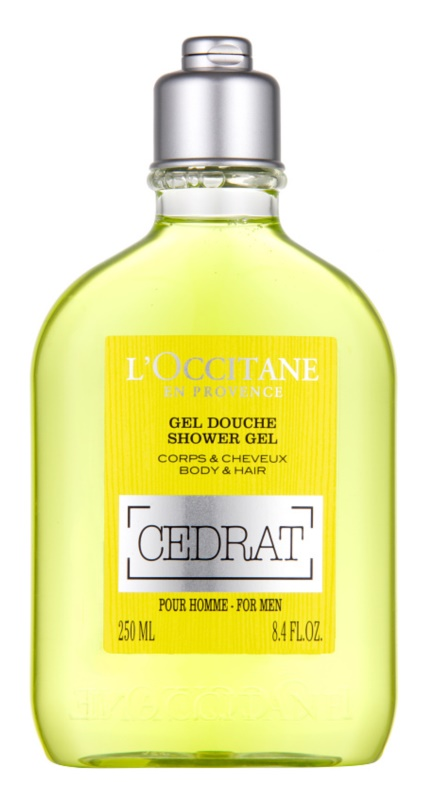 L'Occitane Cedrat sprchový gel na tělo a vlasy