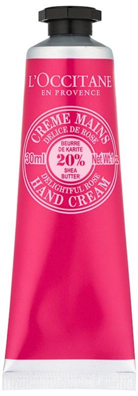 L'Occitane Shea Butter crema de manos con olor a rosa