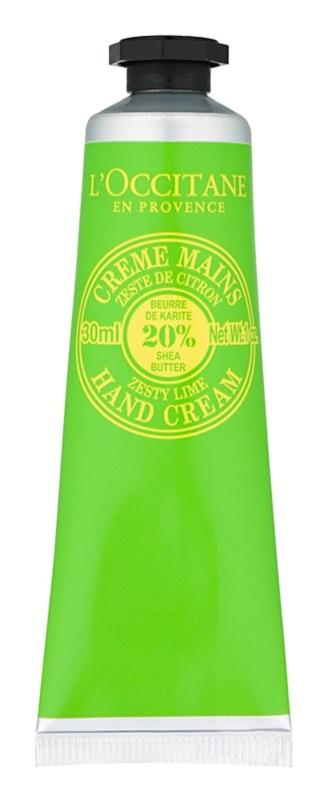 L'Occitane Shea Butter crema de manos con aroma a lima
