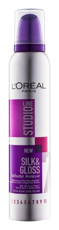 L'Oréal Paris Studio Line Silk&Gloss Volume spuma pentru volum si stralucire