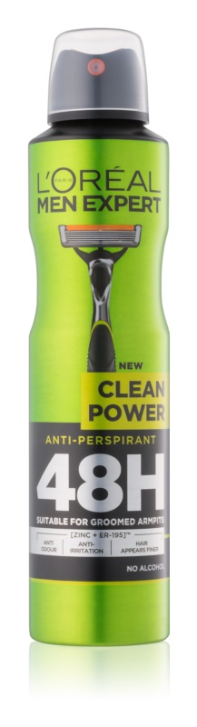 L'Oréal Paris Men Expert Clean Power spray anti-perspirant