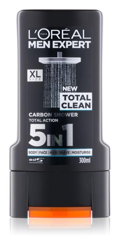 L'Oréal Paris Men Expert Total Clean gel za prhanje 5 v 1