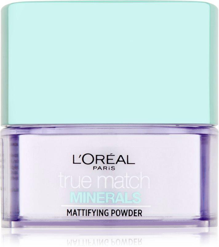L'Oréal Paris True Match Minerals pudra transparent cu efect matifiant