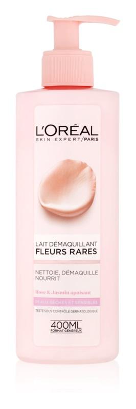 L'Oréal Paris Precious Flowers lait démaquillant pour peaux sèches à sensibles