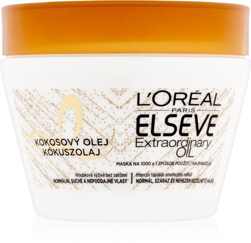 L'Oréal Paris Elseve Extraordinary Oil Coconut hranilna maska za normalne do suhe lase s kokosovim oljem